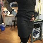 Ny modell på kjol i ekologisk valkad ull.